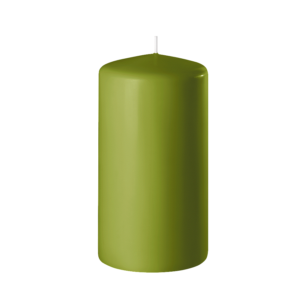 BOUGIE CYLINDRIQUE 120/60 x12_VERT OLIVE_SAFE CANDLE_8-T12060-12