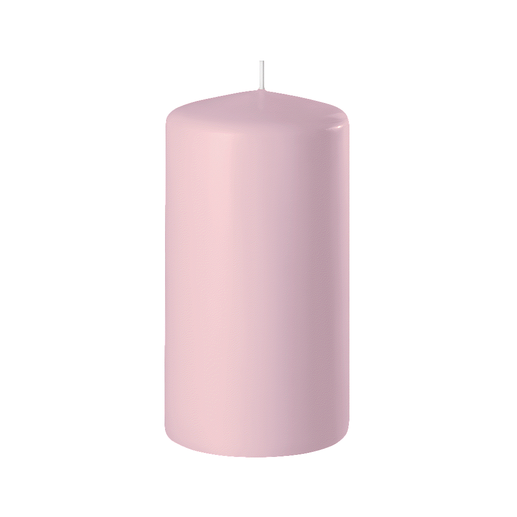 BOUGIE CYLINDRIQUE 120/60 x12_ROSE MAGNOLIE_SAFE CANDLE_8-T12060-12