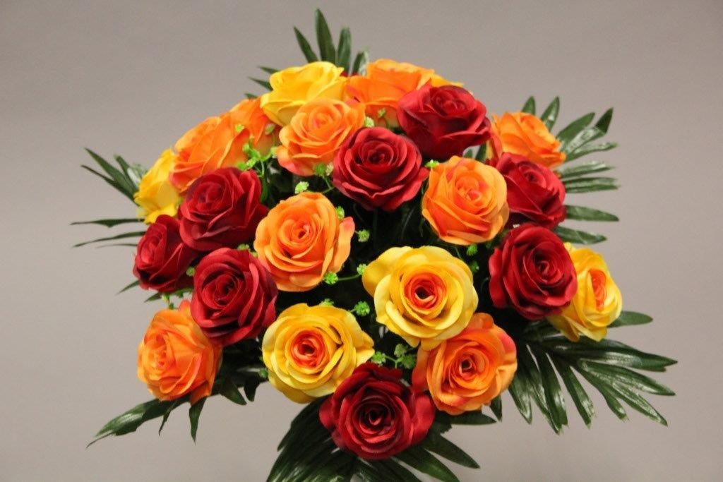 BOUQUET ROSE x 24_ORANGE_1418810_O