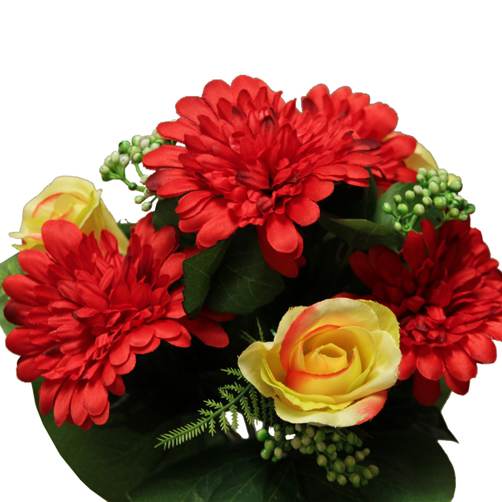 BOUTON GERBERAS x12_ROUGE_558101_R
