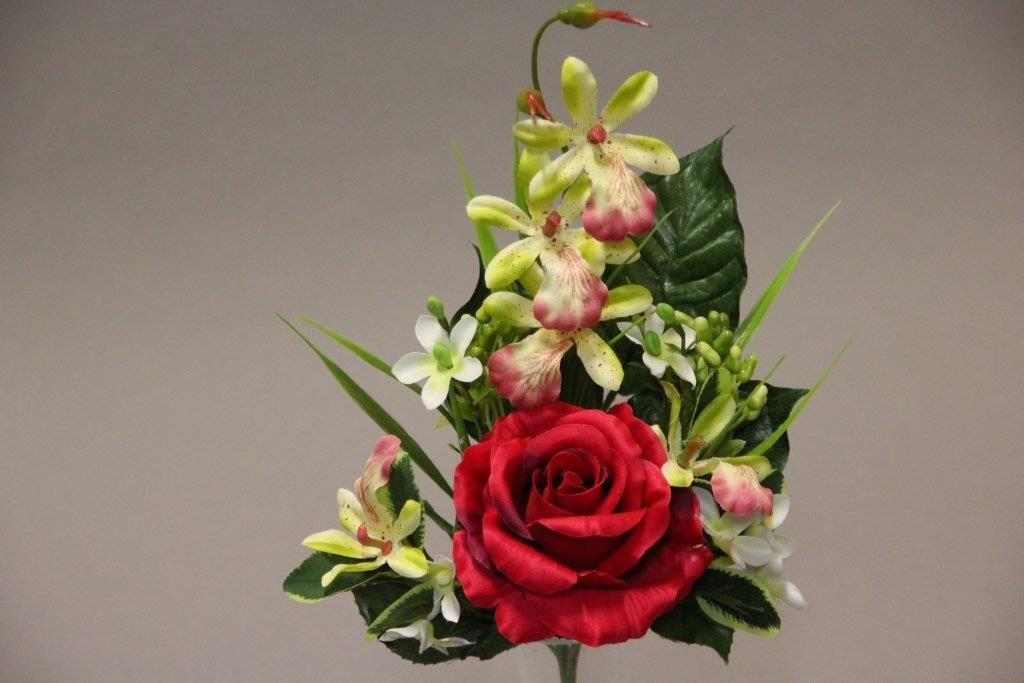 BOUQUET ROSE ORCHIDEE x6_ROUGE_118847_R