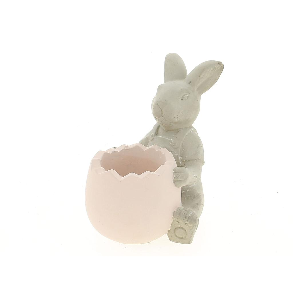 POT LAPIN ROSE _14,5x13x15cm_19DL1046-PK